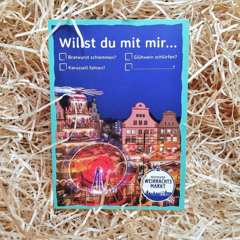 Postkarte Weihnachtsmarkt