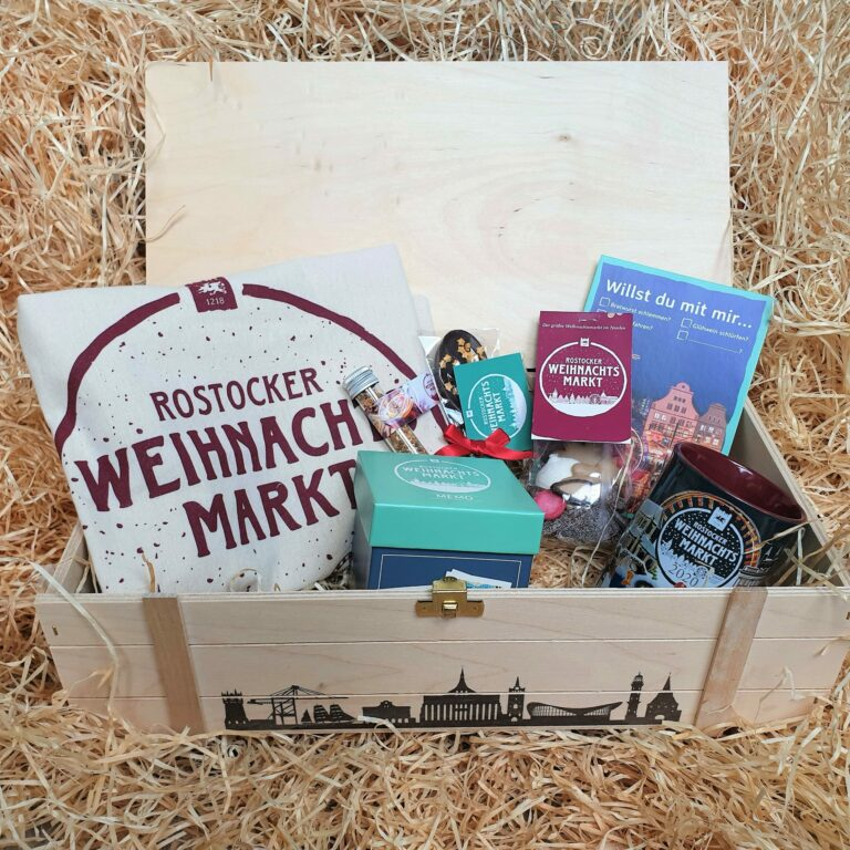Geschenkkiste Rostocker Weihnachtsmarkt 2